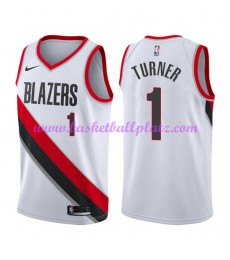 Portland Trail Blazers Trikot Herren 2018-19 Evan Turner 1# Association Edition Basketball Trikots N..